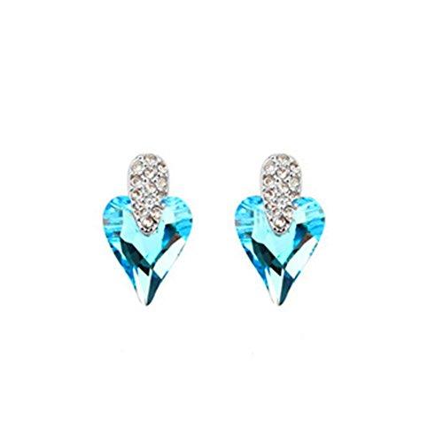 MosierBizne Crystal Heart Earrings(3) (3 Bamboo Downrod)