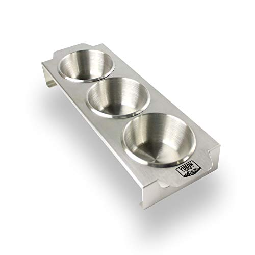 Yukon Glory Stainless Steel Premium Multi Purpose Condiment Serving Tray with Removable Ramekin Cups