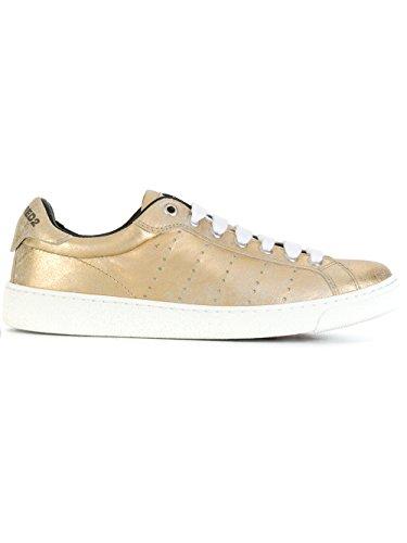 Dsquared2 Dame W17k5118757043 Guld Leder Sneakers ujojmqo