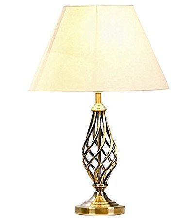 Barley Twist Traditional Table Floor Lamps Bedside Lamp Light Antique Brass,Polished Chrome (Table Lamp, Antique Brass)