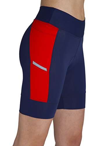 MooMotion Womens Pivot 6.5-Inch Tri Short X-Large Red/Navy