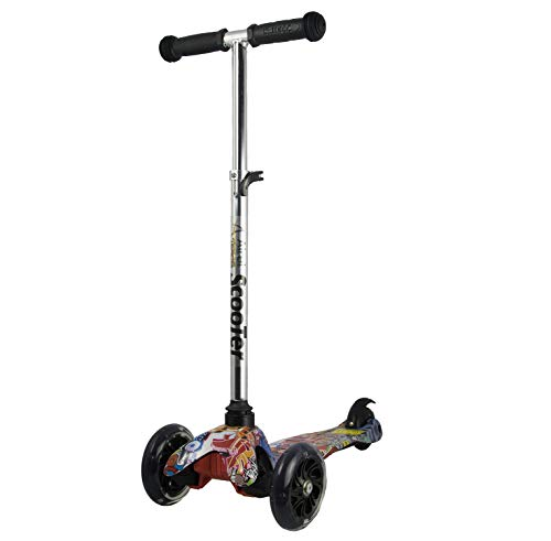 KILLIANS Store Scooter for Kids,2 Light Up Wheels and 3 Adjustable Height Children Scooter,Suitable for 2-10 years old