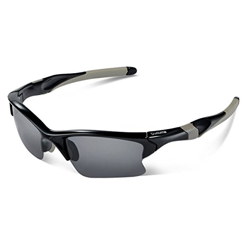Duduma Polarized Sports Sunglasses for Men Women Baseball Fishing Golf Running Cycling Driving Softball Hiking Floating Unbreakable Shades Tr566(Black frame, Black - Sunglasses Polarized Floating