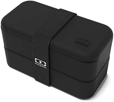 c364aaa2735 Amazon.com: Monbento 1200 02 102 MB Original V Black Bento Box: Kitchen &  Dining
