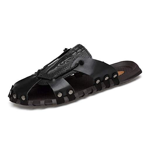 Scarpa Baotou Antiscivolo 38 Black Casual Soft Comfort Sandali Uomo Antiscivolo Da wYdF8qqO