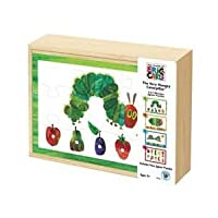 The World of Eric Carle 30138 Very Hungry Caterpillar 4-in-1 Wooden Puzzle Box