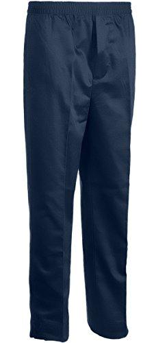 Benefit Wear Mens Full Elastic Waist 5 Pocket Pants with Mock Fly Navy (3X)