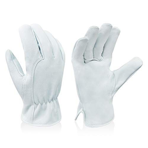 Intra-FIT Premium Goatskin Leather Driver Glove Work Gloves For General work/Truck Driving/Warehouse/Gardening/Farm
