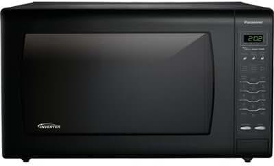 PANASONIC NN-SN968B Luxury Full-Size 2.2 cu. ft Genius Countertop Microwave Oven with Inverter Technology, Black