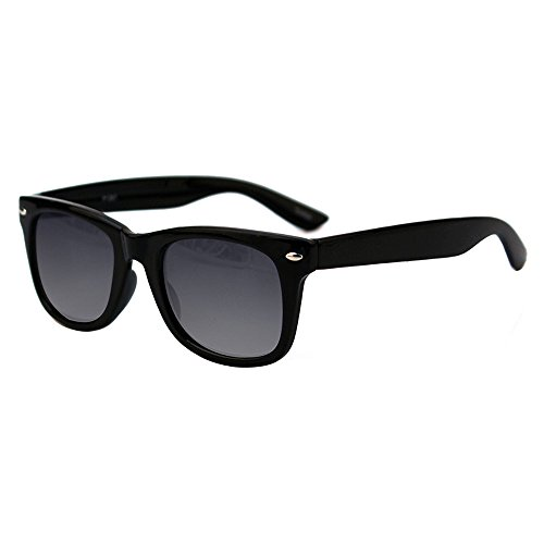 Colorful Fashion Wayfarer Vintage Retro Style Sunglasses P712 (Mid-Small Size) (Black, - Style Wayfarer Colorful Sunglasses