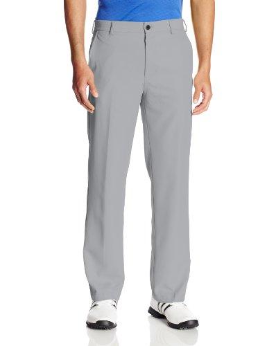UPC 014056169840, IZOD Men's Flat Front Slim Fit Basic Microtwill Golf Pant, Deep Silver Nickel, 34W x 32L