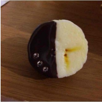 Q pot banana chocolate ring New From Japan F/S