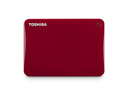 Toshiba Canvio Connect II 3TB Portable Hard Drive, Red