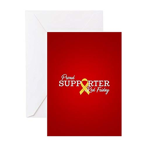CafePress On Friday We Wear RED Greeting Card, Note Card, Birthday Card, Blank Inside Glossy