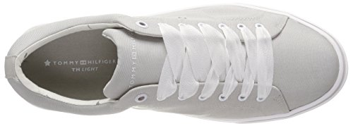 Tommy 001 Bleu Lace Gris Foncé Diamond Grey Weight Hilfiger Sneakers Up Basses Light Femme Metallic FzFr6Uq