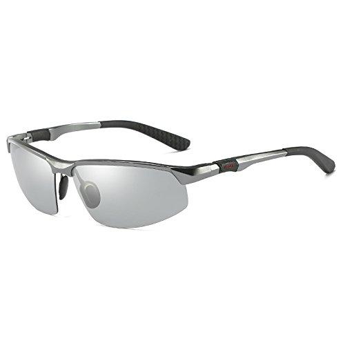 Mjia nbsp;Lunettes Lunettes Homme HD Lunettes Vision sunglasses Soleil Conduite Anti reflet de de Décoloration Gray de polarisées Lunettes de Soleil frame nbsp;Conduite pour Sport rrPqZ