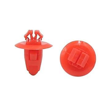 DealMux 100pcs 8mm Red clips de ruedas de plástico Ala Fender llamarada guarnecido del paso de molduras para el coche: Amazon.es: Coche y moto