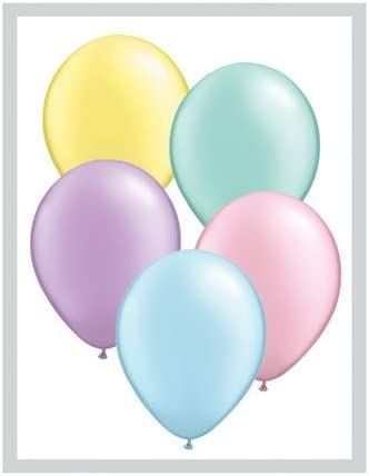 "Pearl Pastel Qualatex 5 /""Látex Globos X 100"