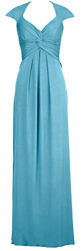 Dress Elegant Turquoise Gown Long Evening Prom Formal MACloth Jersey Open Back Simple 176wXXqH