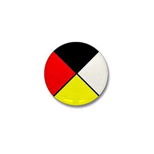 (CafePress Medicine Wheel Mini Button 1