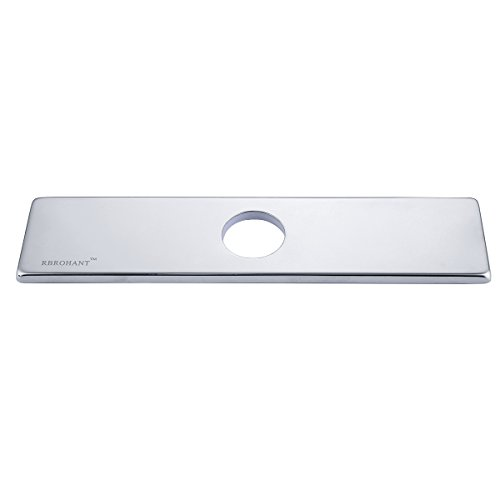 RBROHANT BAP001 10 Inch Three Holes Bathroom Sink Faucet Hole Cover Deck Plate Escutcheon Polished Chrome