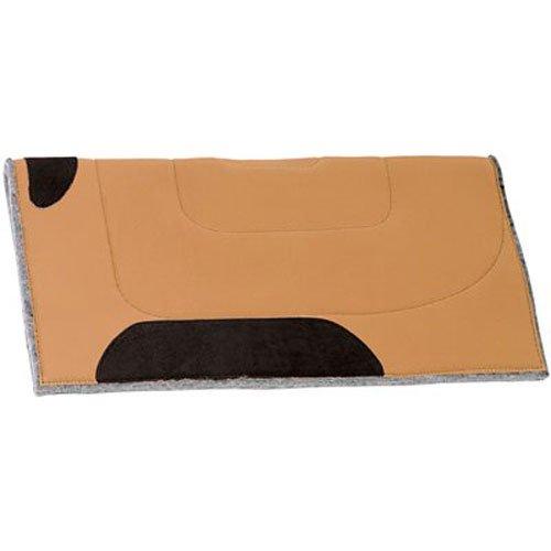 Weaverレザーキャンバストップサドルパッド、ブラウン   B005JES95U