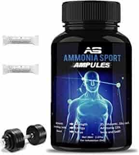 AmmoniaSport Athletic Smelling Salts - Ampules (25) Smelling Salts Powerlifting - Ammonia Inhalant - Salt Sticks - Rush Inhalant - Focus Up - Powerlifting Gear - Focus Aid - Energy Aid - Nose Lifting