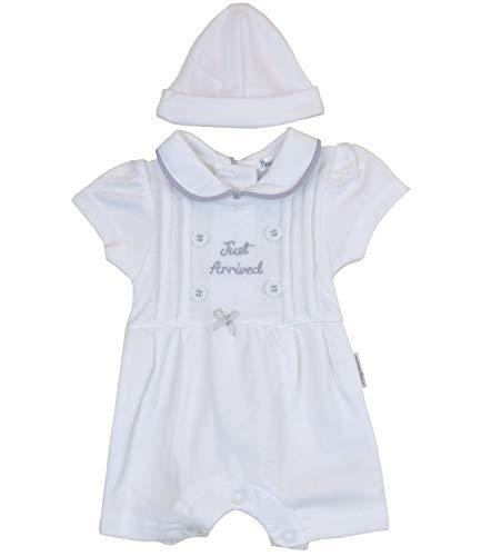 (BabyPrem Premature Baby Romper & Hat Set White 5-8lb Prem 3)