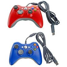 BlastCase Xbox 360 Wired USB Game Pad Controller 2 Pack Red ()