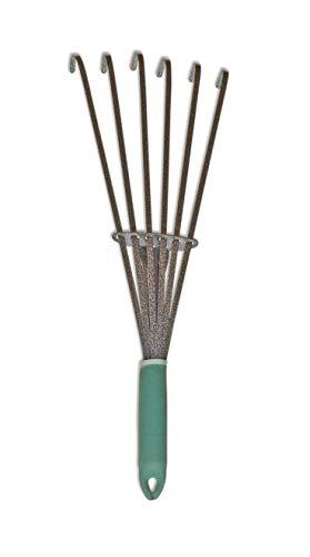 "Yard Butler Terra Rake All Steel 18"" Floating Tine Leaf and Debris Clearing Hand Garden Spring Rake – ()"