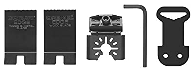 Dremel MM400E Edge-Series Oscillating Starter Kit with 2 Cutting Blades and 1 Adapter from Dremel