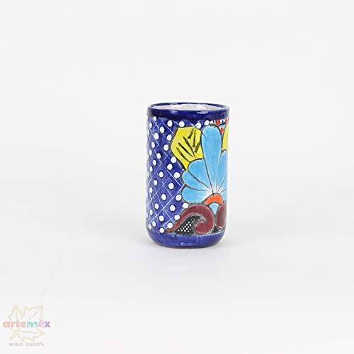 Mexican Drinking Glasses Mexican Talavera Talavera Mexican Tumbler Glasses Mexican Glassware Set Mexican Decor Tumbler Glasses Mexican Talavera Glasses SET OF 4 Glasses
