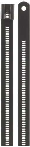 BAND-IT AE7119 316 Stainless Steel Multi Lok Cable Tie, 0.47'' Width, 6'' Length, 1.3'' Maximum Diameter, Bag of 100 by Band-It