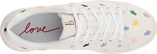 Ed Ellen Degeneres Womens Chapala In Tessuto Low Top Sneakers Moda Blanco / Multi Popeline / Tartaruga