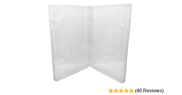 10 Clear // Spine: 14 mm // No Tabs CheckOutStore Plastic Storage Cases for Rubber Stamps