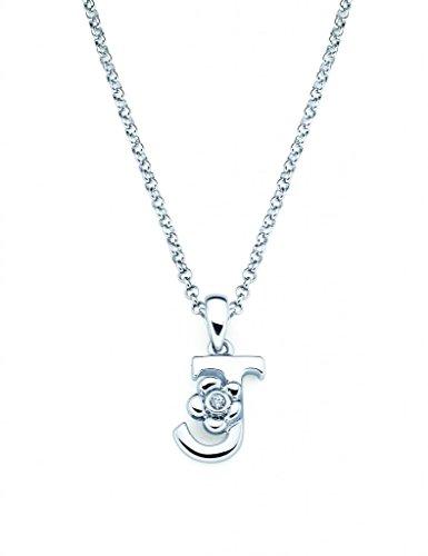 Diamond Boy Pendant - Little Diva Diamonds Sterling Silver Diamond Accent Initial Pendant Necklace - Letter J