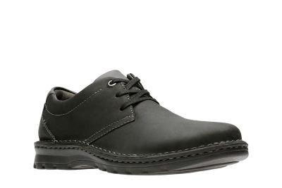 c858e0d1e78 Clarks Men s Vanek Plain Black Leather Boat Shoes-6 UK India (39.5 ...