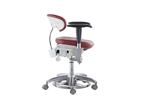 SoHome Microsope Dynamic Chair Foot Controlled Doctor's Mobile Stool with Swiveling Armrest MDS-FC1 by SoHome (Image #7)