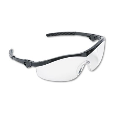 Storm Wraparound Safety Glasses, Black Nylon Frame, Clear Lens, 12/Box, Sold as 12 Each by Crews