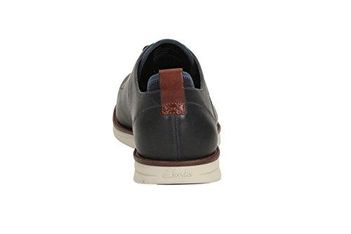 Clarks scarpe in pelle modern-elegante trigen Walk Uomo in blu