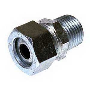 Image of Cylindrical Connectors Hubbell Electrical/RACO 3704-2 Straight Cord Grip Connector 1 Inch 0.700-0.850 Inch Steel