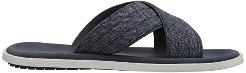 Aldo Menns Etroits Flat Sandal, Marineblå, 7 D Oss