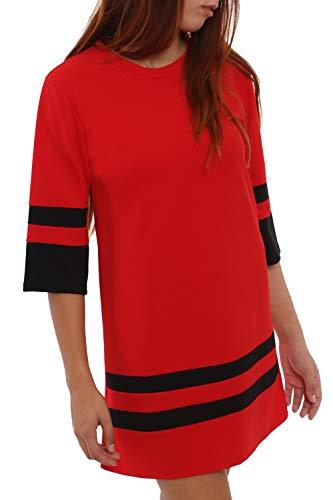 Mini Vestido S Talla L 4tuality Skater Rojo 8618Hq