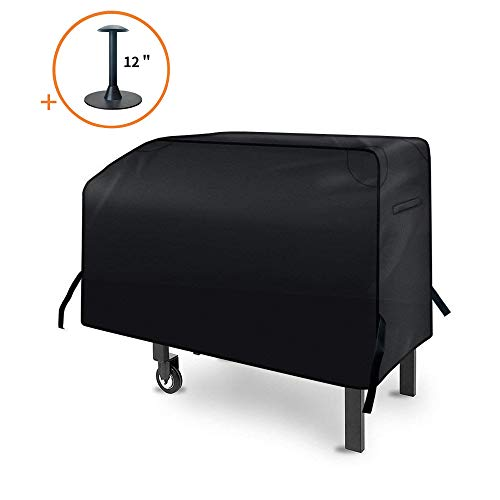 iCOVER 28 in Griddle Cover 600D Water Proof Canvas Heavy Duty Flat Top Cover Sized for Blackstone 28 in Outdoor Cooking Gas Grill Griddle Station G21620 Incl Support Pole to Help The Water Run Off