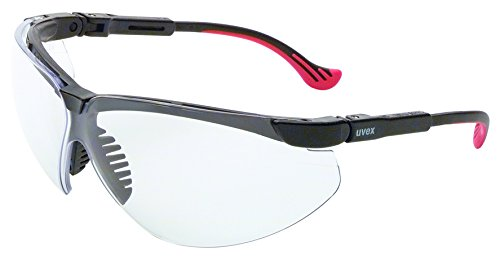 UVEX by Honeywell S3300HS Genesis XC Series Safety Eyewear with Black Frame, Clear Lens and Hydro Shield Anti-Fog Lens Coating by Honeywell