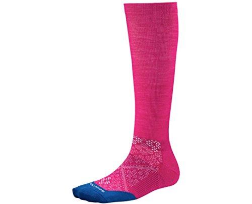 SmartWool Women's PhD Run Graduated Compression Ultra Light Socks (Bright Pink) Small