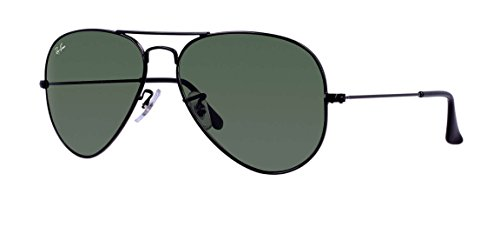 Ray-Ban - Large Metal Aviator Sunglasses RB3025 (Black / G-15 - Lens G-15-xlt