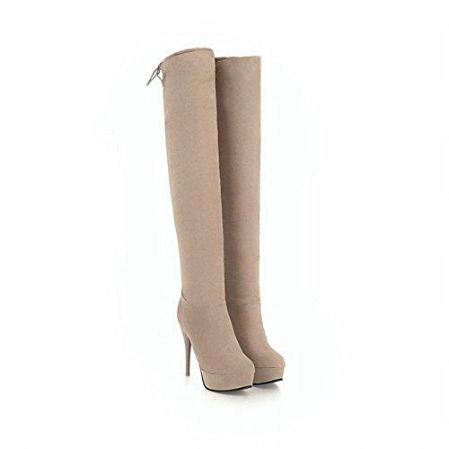 Beige Platform MissSaSa da Stivali Elegant Scarpe Donna e Sala Tacco prrz0qx