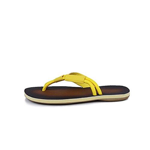 Colore da 40 e spiaggia Giallo Dimensione Infradito Giallo estive da cm 24 Sandalo 27 Scarpe 5 Impermeabile bagnato uomo Cherlvy da antiscivolo uomo 1gICqHUHw