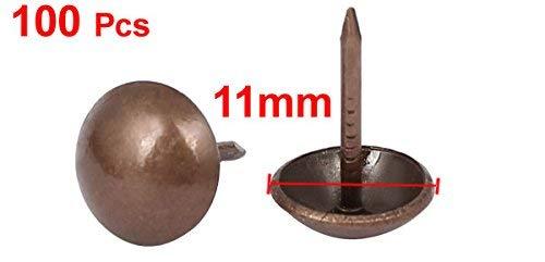 100x 7//16-inch Dmr Eisen Runder gew/ölbt Kopf Polsterung Rei/ßzwecke Nagel Kupfer